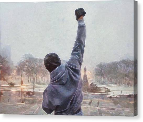 Sylvester Stallone Canvas Print - Rocky Balboa by Dan Sproul