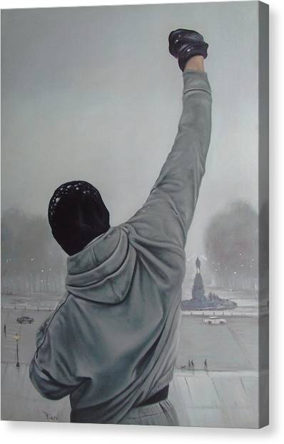 Sylvester Stallone Canvas Print - Rocky Balboa by Riard