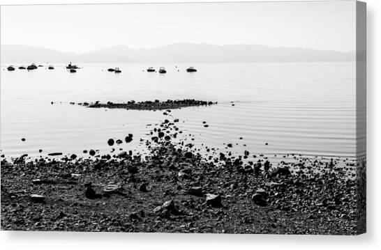 Lake Tahoe Canvas Print - Rocky Beach by Chad Dutson