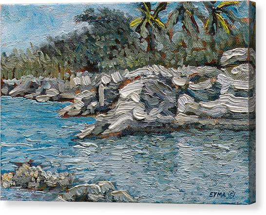 Rocky Bluff Canvas Print