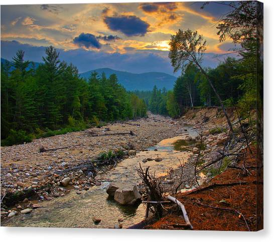 Rocky Branch Sunset Canvas Print