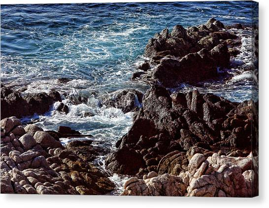 Rocky Coast Canvas Print by Linda Phelps
