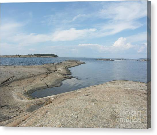 Rocky Coastline In Hamina Canvas Print