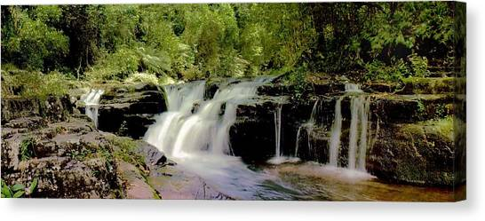 Canvas Print featuring the photograph Rocky Crossing Falls by David Rich