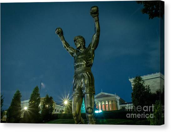 Sylvester Stallone Canvas Print - Rocky by David Rucker