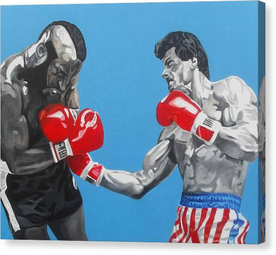 Sylvester Stallone Canvas Print - Rocky IIi Aint So Bad by Patrick Killian