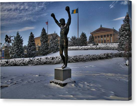 Rocky In The Snow Canvas Print