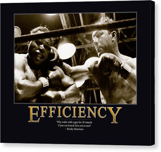 Rare Canvas Print - Rocky Marciano Efficiency  by Retro Images Archive