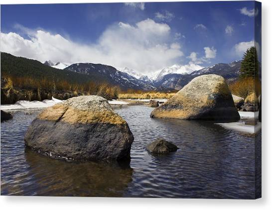 Rocky Mountain Creek Canvas Print