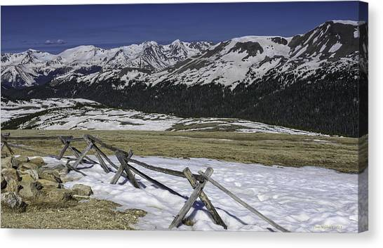 Rocky Mountain Gorge Canvas Print by Tom Wilbert