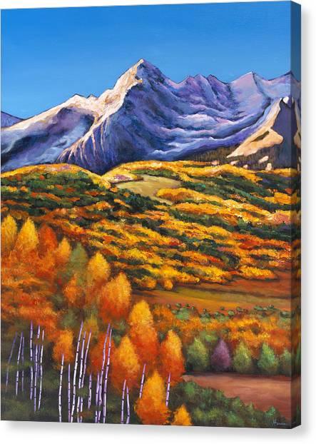 Aspen Tree Canvas Print - Rocky Mountain High by Johnathan Harris