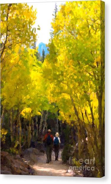 Rocky Mountain Hike Canvas Print