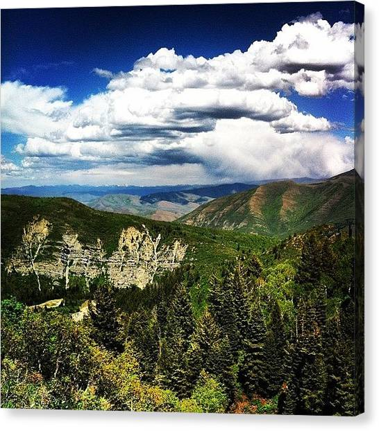Rocky Mountains Canvas Print - #rocky #mountains Can See For Miles At by Shane Stewart