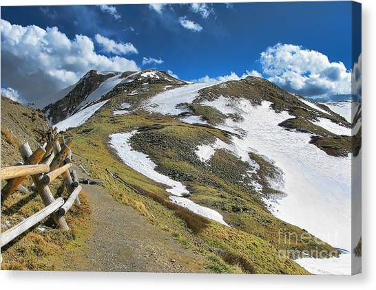 Colorado Rockies Canvas Print - Rocky Mountains Path by Olivier Le Queinec