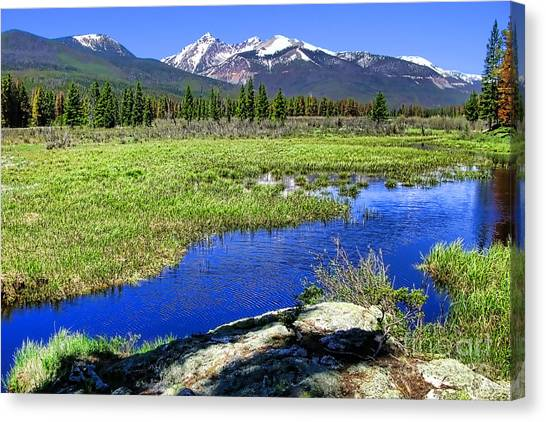 Colorado Rockies Canvas Print - Rocky Mountains River by Olivier Le Queinec