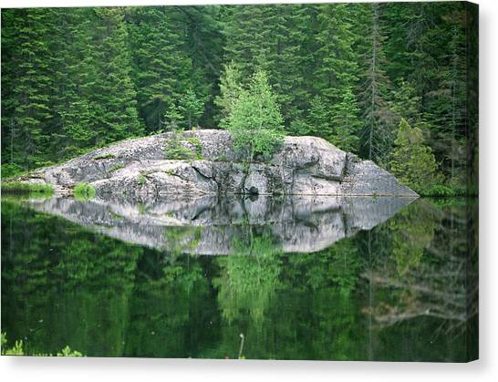 Rocky Reflection Canvas Print