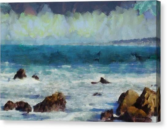Rocky Seashore Canvas Print
