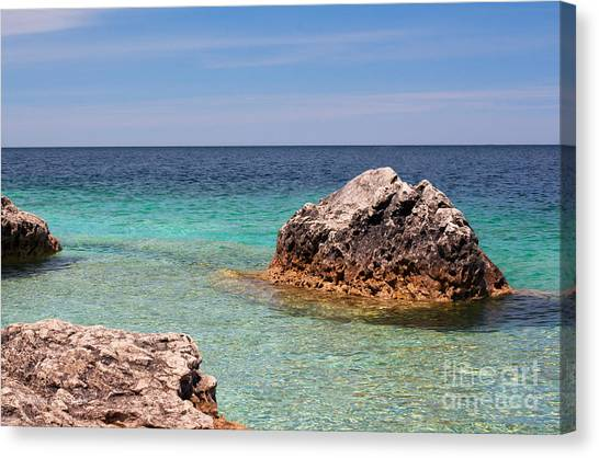 Rocky Shoals Of Tobermory Canvas Print