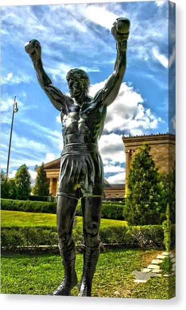 Rocky Statue Canvas Print by Frank Savarese