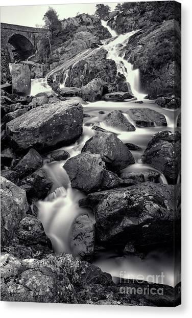 Ogwen Canvas Print - Rocky Stream by Adrian Evans