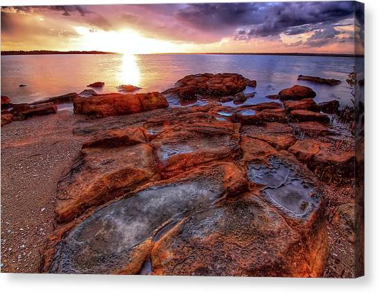 Rocky Sunset Canvas Print