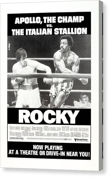 Sylvester Stallone Canvas Print - Rocky, Us Poster, Sylvester Stallone by Everett