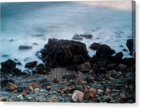 Rocky Water Canvas Print by Allan Johnson