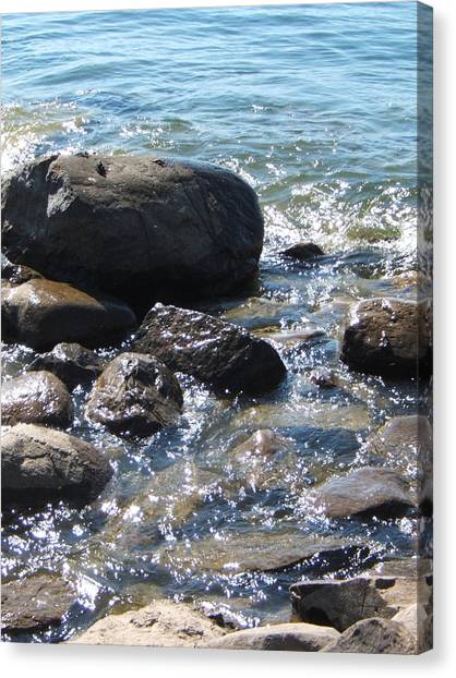 Rocky Waters Canvas Print by Margaret McDermott
