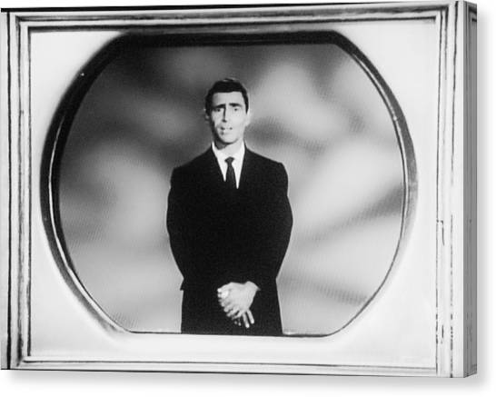 Rod Serling On T V Canvas Print