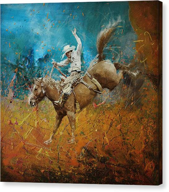 University Of Chicago Canvas Print - Rodeo 001 by Corporate Art Task Force