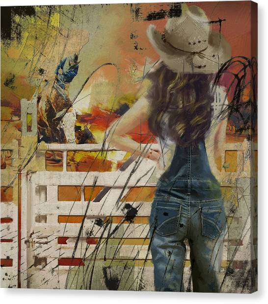 University Of Chicago Canvas Print - Rodeo 003 by Corporate Art Task Force