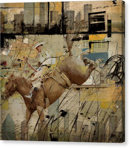 Uaa Canvas Print - Rodeo Abstract 001 by Corporate Art Task Force