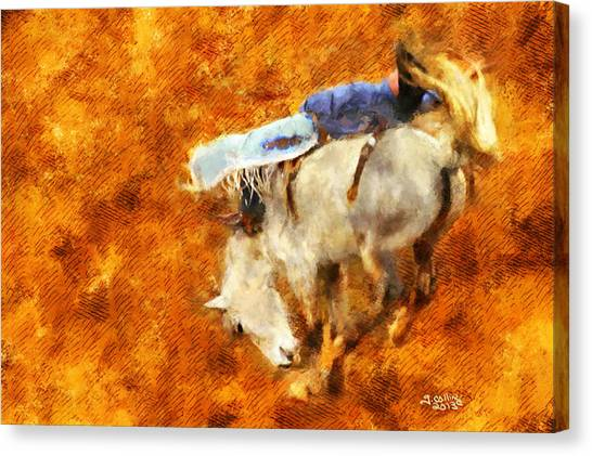 Eight-second Ride Canvas Print