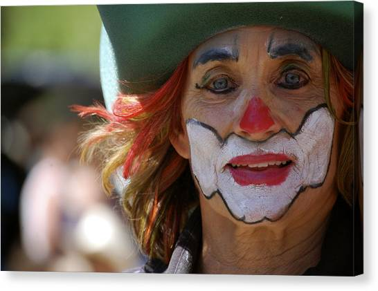 Rodeo Clown Canvas Print - Rodeo Clown by Sherlyn Morefield Gregg
