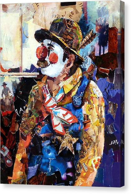 Rodeo Clown Canvas Print - Rodeo Clown by Suzy Pal Powell