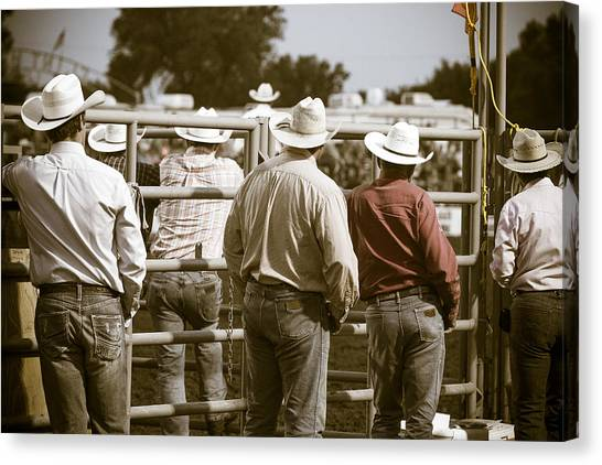 Rodeo Clown Canvas Print - Rodeo Cowboys by Steven Bateson