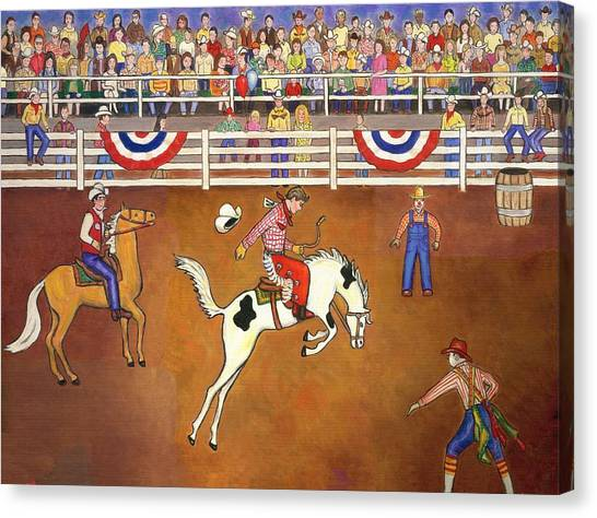 Rodeo Clown Canvas Print - Rodeo One Original by Linda Mears