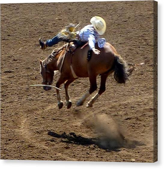 Rodeo Time Bucking Bronco 2 Canvas Print