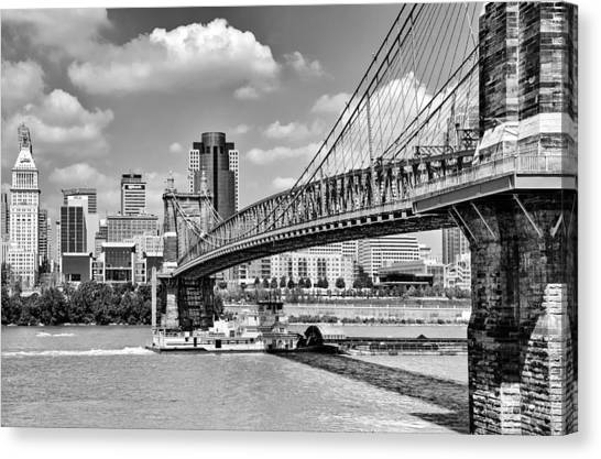 Roebling Bridge Canvas Print