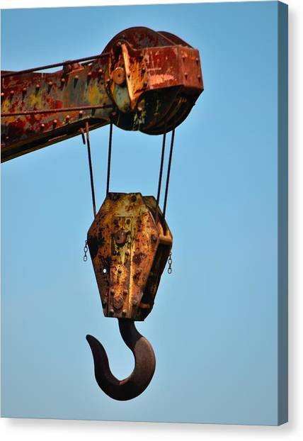 Precisionism Canvas Print - Roebling Factory Crane by Steven Richman