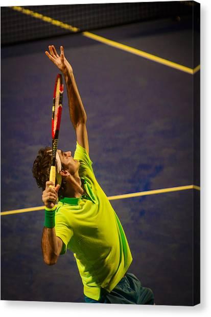 Tennis Pros Canvas Print - Roger Federer by Bill Cubitt