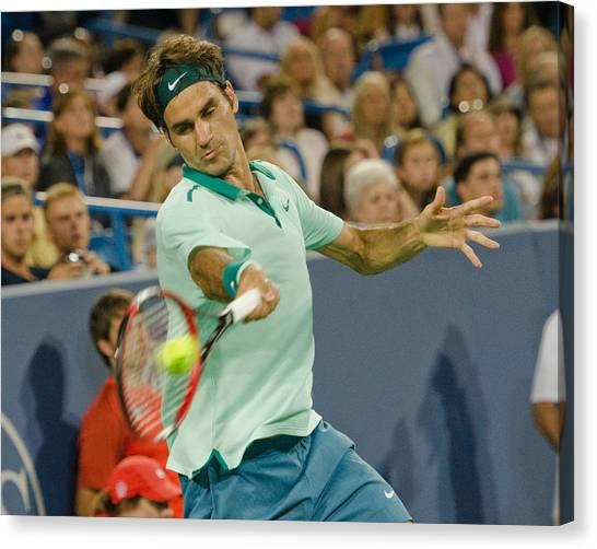 Roger Federer Canvas Print - Roger Federer by David Long