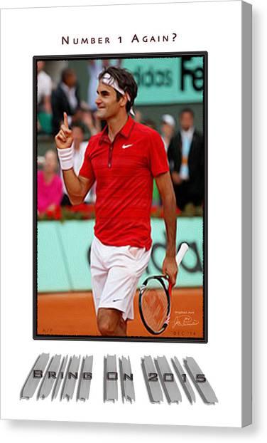 Roger Federer Number One In 2015 Canvas Print