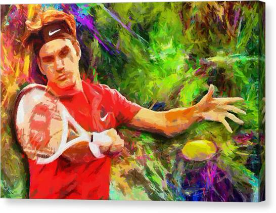 Open Canvas Print - Roger Federer by RochVanh