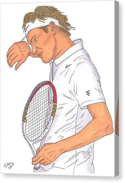 Roger Federer Canvas Print by Steven White