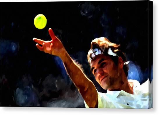 Roger Federer Tennis 1 Canvas Print