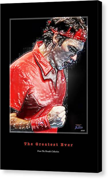 Andre Agassi Canvas Print - Roger Federer  The Greatest Ever by Joe Paradis