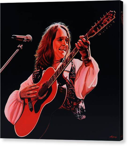 Roger Canvas Print - Roger Hodgson Of Supertramp by Paul Meijering