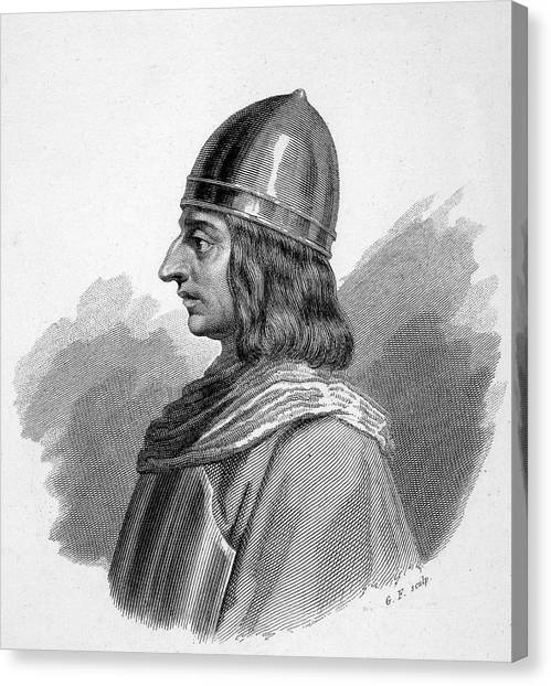 Roger I, (ruggiero) Guiscard  Norman Canvas Print by Mary Evans Picture Library