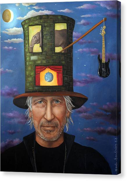 Pink Floyd Canvas Print - Roger Waters by Leah Saulnier The Painting Maniac